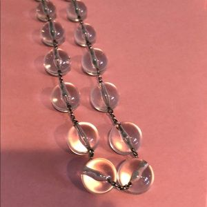 38 inch clear lucite necklace